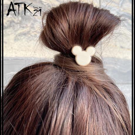 ミッキーモチーフ ヘアゴム ヘアポニー 髪留め 簡単ヘアアレンジ シンプル オフィス レディース 子供 レディース ヘアアクセサリー