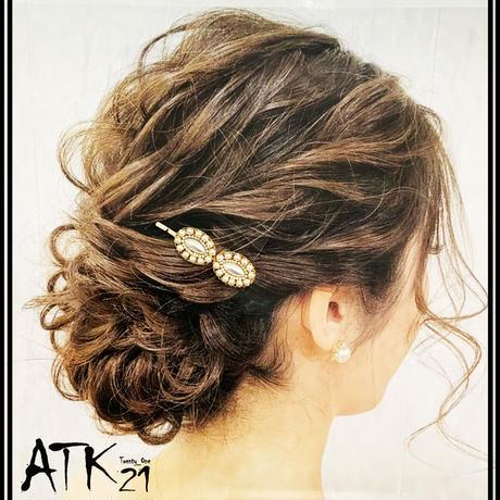フラワーモチーフ パール オーバル ゴールド ヘアピン 簡単ヘアアレンジ 髪どめ 前髪 レディース ヘアアクセサリー