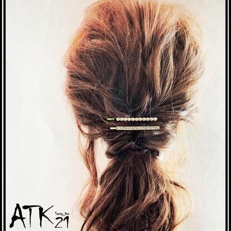 (4点セット)パール パヴェ ビジュー ヘアピン セット 上品 キレイ目 シンプル  簡単ヘアアレンジ 髪どめ 前髪 レディース ヘアアレンジ ヘアアクセサリー