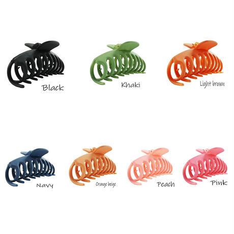 大き目 シンプル マットカラー バンスクリップ ヘアクリップ しっかりホールド 髪留め 簡単ヘアアレンジ レディース ヘアアクセサリー