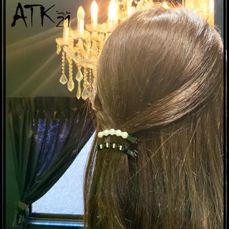 パール ストーン カーブ ヘアクリップ 上品 ダッカール シンプル まとめ髪のポイント 髪留め レディース ヘアアクセサリー