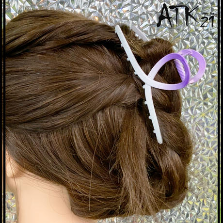 グラデーション バンスクリップ シンプル ヘアクリップ 髪留め 簡単ヘアアレンジ まとめ髪 レディース ヘアアクセサリー