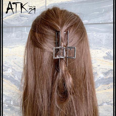 スクエア 長方形 メタル バンスクリップ シンプル ヘアクリップ 髪留め 簡単ヘアアレンジ レディース ヘアアクセサリー