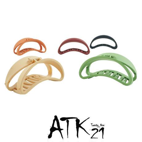 オープンサークル マットカラー バンスクリップ シンプル ヘアクリップ 髪留め 簡単ヘアアレンジ レディース ヘアアクセサリー