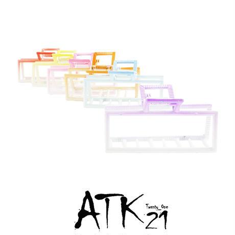 グラデーション スクエア 長方形 バンスクリップ シンプル ヘアクリップ 髪留め 簡単ヘアアレンジ レディース ヘアアクセサリー