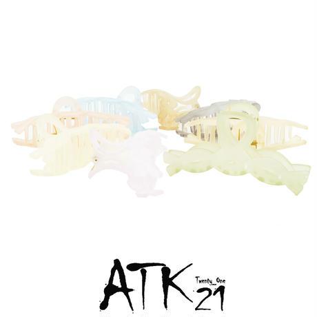 透明 クリア ツイスト バンスクリップ ヘアクリップ 髪留め しっかりホールド 簡単ヘアアレンジ レディース ヘアアクセサリー