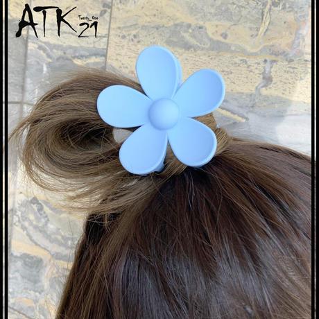 ビック フラワー 大きなお花 マットカラー バンスクリップ ヘアクリップ 髪留め 簡単ヘアアレンジ レディース ヘアアクセサリー