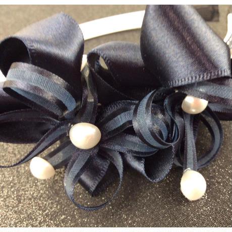 リボン フラワー パール キッズカチューシャ キッズ アクセサリー 卒業式 入学式 発表会 七五三 結婚式  パーティ レディース ヘアアクセサリー:HK160202