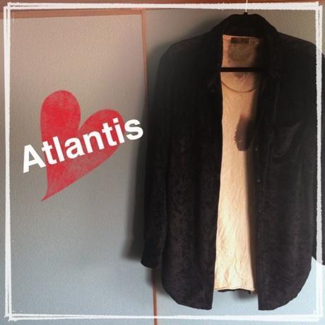 新品 Atlantis ベロアシャツ