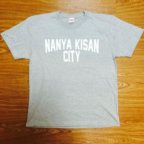 【受注製作商品】atleta nanyakisancity T-shirt ナンヤキサンシティTシャツ ミックスグレー (プリントホワイト)