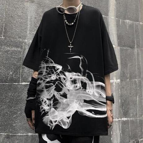 """BIGシルエット Tシャツ""""SMOKE"""""""