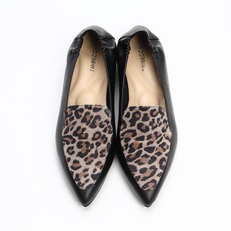 Ann Moccasin Black ×Leopard