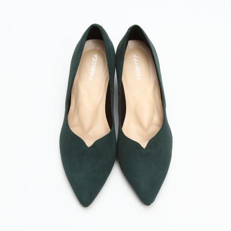 Pearl Heart-cut Dark green