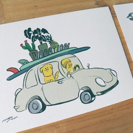 ATSUKOWORKS 森 温 オリジナルポストカード2枚組セット