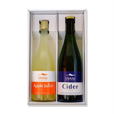 VinVieシードルとVinVieりんごジュースのセット (ギフト箱入り)