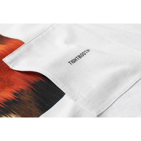 TIGHTBOOTH TONGUE FU 7 SLEEVE T-SHIRT(TIGHTBOOTH / KOSUKE KAWAMURA) (White, Black)