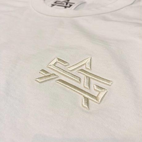 ATTACK ORIGINAL 3D AS LOGO 8.5oz GARMENT DYE TEE (WHITE)