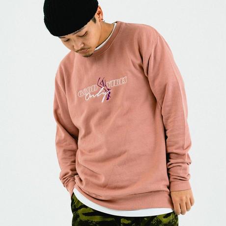 FLATLUX Wingfoot Crewneck (dusty pink, slate, ash grey)