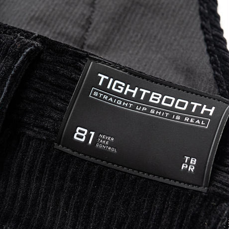 "TIGHTBOOTH CYBORG CORD OVERALL  ""TIGHTBOOTH / KILLER BONG"" (Charcoal, Yellow)"