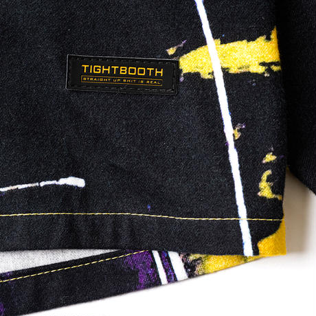 "TIGHTBOOTH SUPER RAT NEL-SHIRT ""TIGHTBOOTH / KNTHW"" (White, Yellow)"