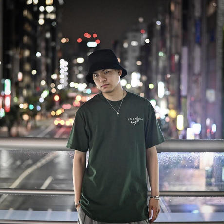 FLATLUX 1000% Tee (white, forest)