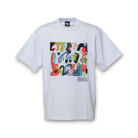 FIRSTDOWN × Keeenue ART GRAPHIC T-SHIRT (WHITE)