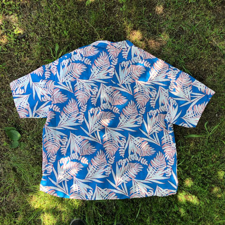 JOHN SOFIA Endless Summer Botanical SS Shirt  (BLACK, MILK COCOA, BLUE)