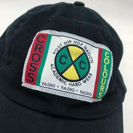 0568da8327948 ... CROSS COLOURS CLASSIC WOVEN LABEL DAD HAT (BLACK)