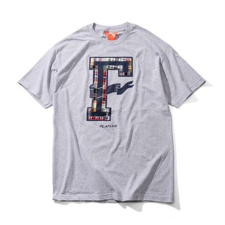 FLATLUX Preppy Mind Tee (white, navy, heather grey)