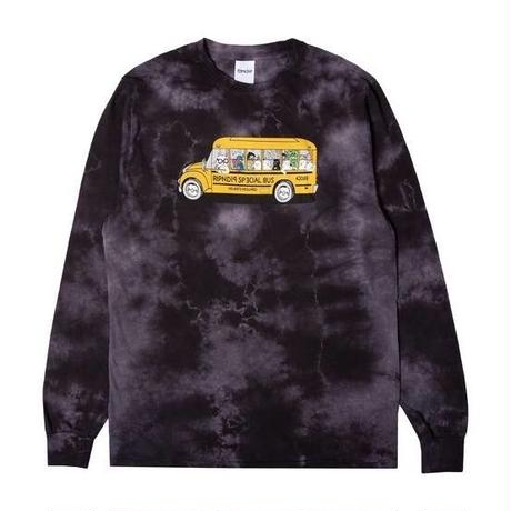 RIPNDIP SCHOOL BUS L/S (BLACK LIGHTNING WASH)