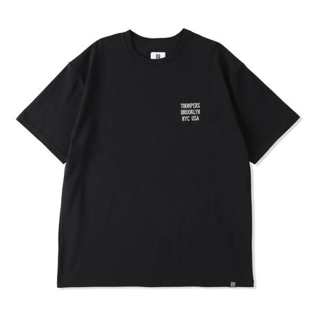 THUMPERS NYC LEATHER PATCH LOGO S/S TEE (WHITE, BLACK, PURPLE)