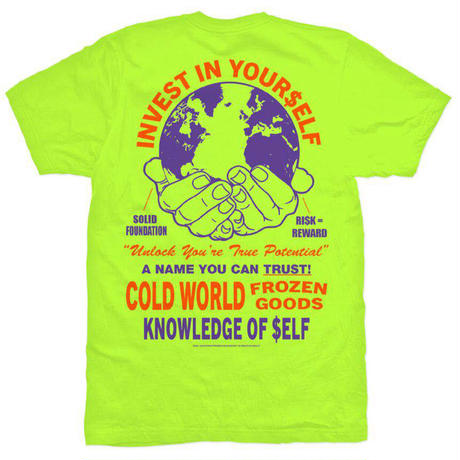 Cold World Frozen Goods INVESTMENT T-SHIRT (Black, SafetyGreen, White)