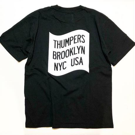 THUMPERS NYC CURVE S/S TEE (BLACK, WHITE)