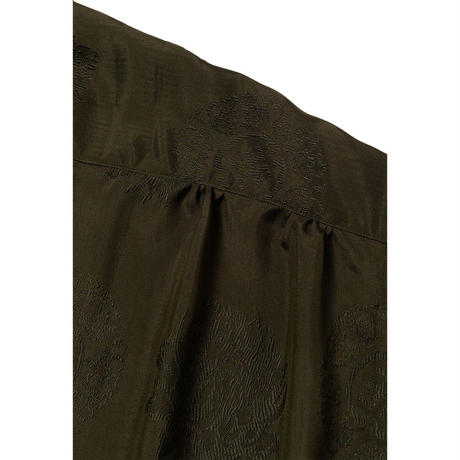 DELUXE × EVISEN CAMELLIA SHIRT (Black, Olive)
