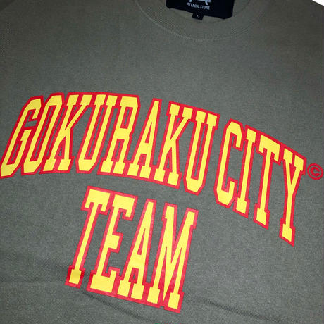 TEAM GOKURAKU CITY T-SHIRT (White, Black, Blue, Brown, Ivory)