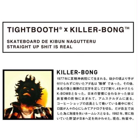 TIGHTBOOTH®︎ x KILLER-BONG™️  BK SMOKER TAILORED JKT  (Black)
