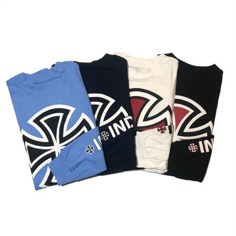 INDY  BAR/CROSS LS TEE (CAROLINABLUE, NAVY, WHITE, BLACK)