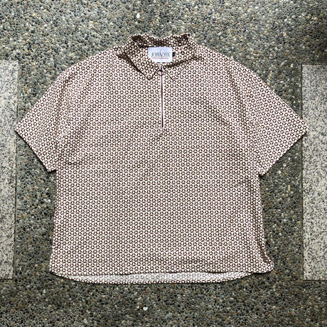 JOHN SOFIA Hexagram Halfzip Shirt (WHT/BLU, WHT/BUR, WHT/NVY, GRY/BLK, SLATE/BLK)