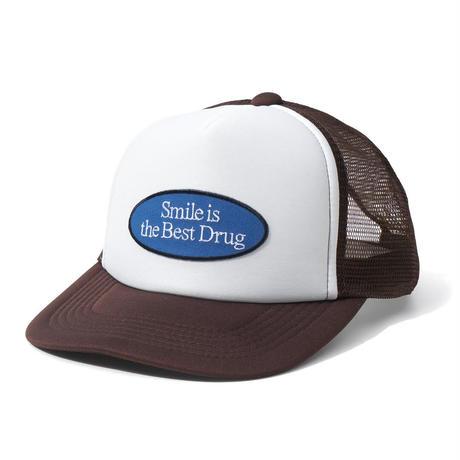 FLATLUX Motto Mesh Cap (Back, Chocolate)