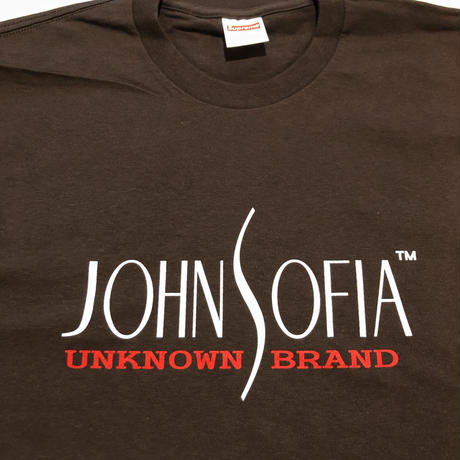 JOHN SOFIA  LOGO TEE (BROWN)