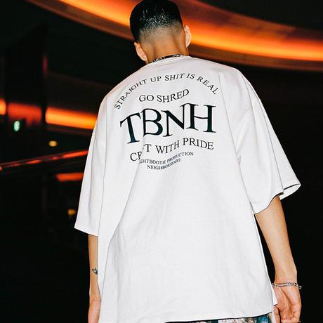 "TIGHTBOOTH STRAIGT UP T-SHIRT  ""TIGHTBOOTH / NEIGHBORHOOD"" (Black, White)"