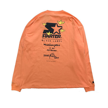 MARK GONZALES x STARTER Samie Love Pt. L/S BIG TEE (L.Orange)
