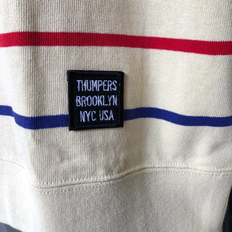 THUMPERS Boarder L/S Tee (YELLOW, WHITE)