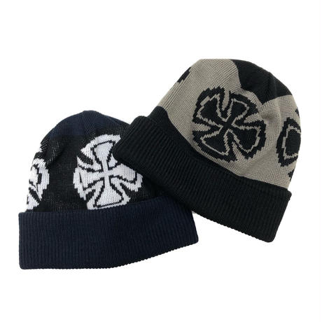INDY CROSSES BEANIE (NVY/BLK, BLK,GRY)