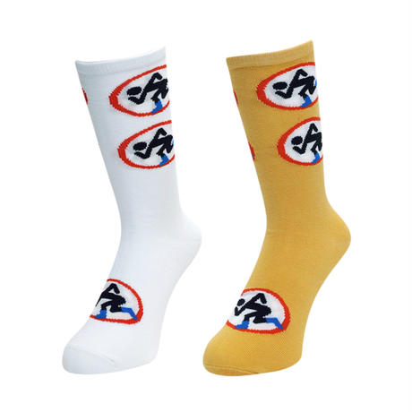 GanaG Socks Breakout Socks (WHITE, YELLOW)