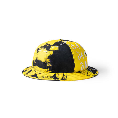 """TIGHTBOOTH SUPER RAT HAT """"TIGHTBOOTH / KNTHW"""" (White, Yellow)"""