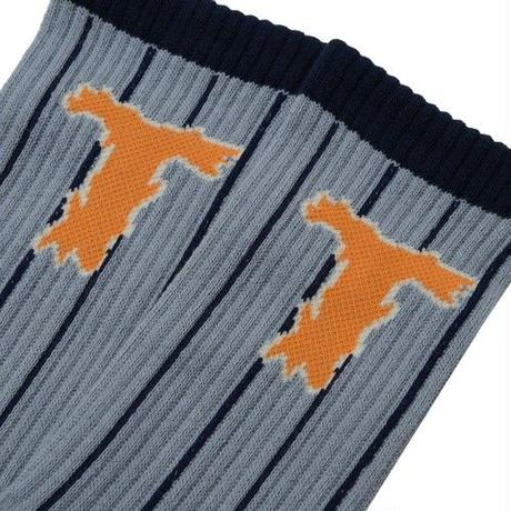 THUMPERS T LOGO SOCKS (GREY, YELLOW)