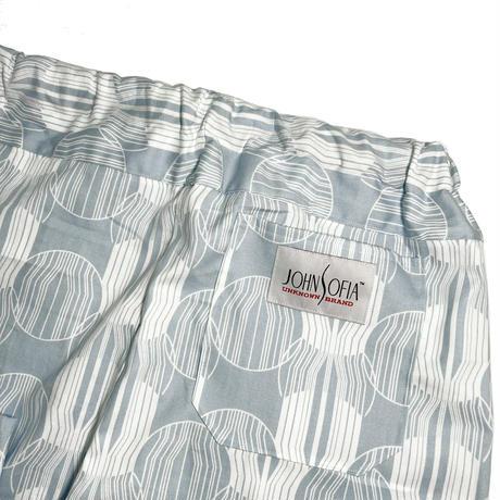 JOHN SOFIA Endless Summer Bubbles Easy Pant (P.BLUE, LT. GREY)