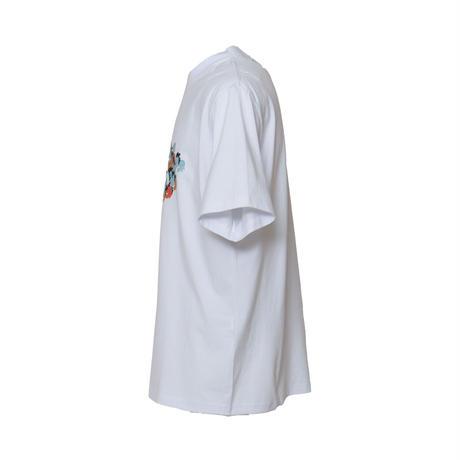 FIRSTDOWN × Keeenue TAG GRAPHIC T-SHIRT (WHITE)
