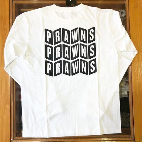 ATTACK ORIGINAL PRAWNS LS TEE (WHITE/RED, WHITE/BLACK, BURGUNDY, GREEN, CHARCOAL)